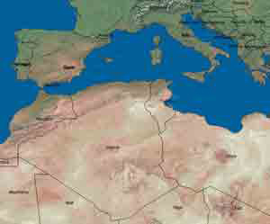 Algeria is strategically located in North Africa near Europe.