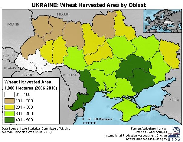 Rural Land Use Ukraine - Agricultural Land Us Map