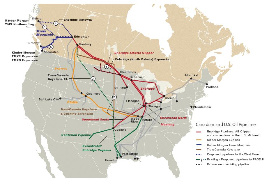 Map of tar sand pipeline system from Canada to US Gulf Coast. Oil spill from tar sands pipeline in Arkansas. Pegasus pipeline went near residential neighborhood.